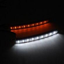 2x גבוהה מואר בשעות היום ריצת אור DRL ערפל הנהיגה מנורת עבור KIA K2 עם אמבר הפעל אות אור מעומעם אור משלוח חינם