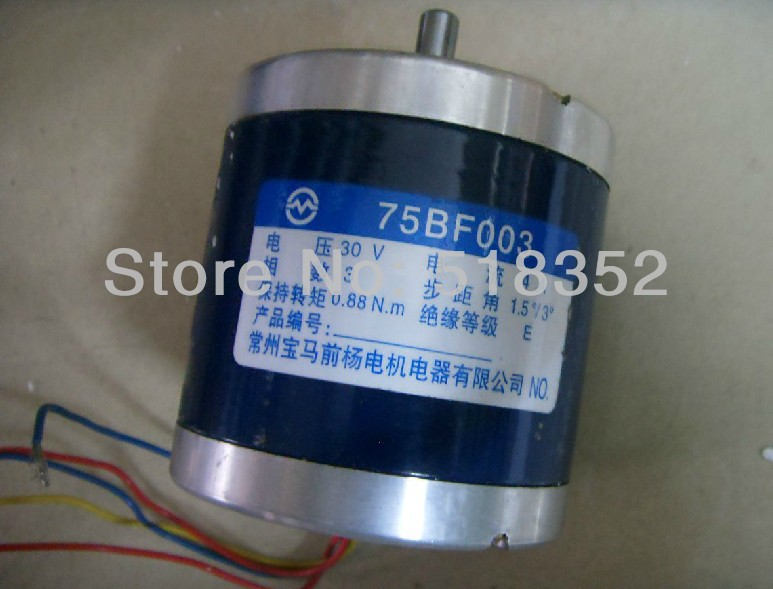 75BF003 30V  4A  0.88N.m Three Phase Stepper Motor Drive with 6 Electric Wires for EDM Wire Cut Machine Electrical Parts toothed belt drive motorized stepper motor precision guide rail manufacturer guideway