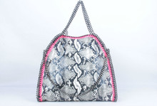 37CM Serpentine Deer shaggy PVC portable shopping tote Bag Lady Fashion casual luxury handbags