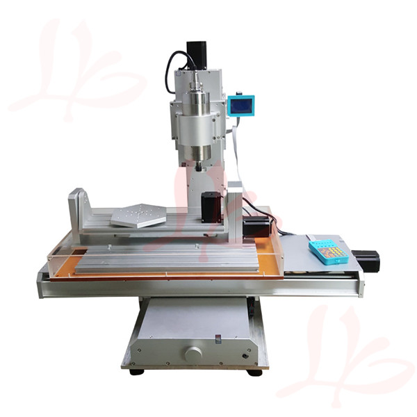 high performance 5 axis mini cnc router 6040 with water tank no tax to Russia cnc 5 axis a aixs rotary axis plate type disc type for cnc router machine no tax to russia
