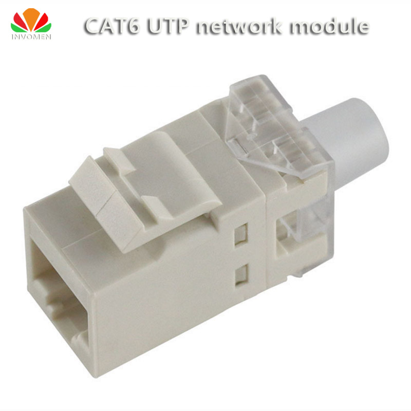 White UTP RJ45 Connector CAT6 Network Module Information Socket Computer Outlet Cable Adapter Keystone Jack For Amp Ethernet
