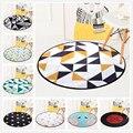 Европейский геометрический круглый ковер для гостиной  детские коврики и ковры для спальни  компьютерный стул  напольный коврик  ковровое п...