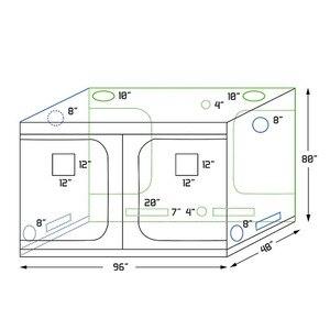 Image 2 - Crescere tenda per la coltura idroponica dellinterno serra impianto di illuminazione Tende 240*120*200 centimetri Crescere tenda crescere box
