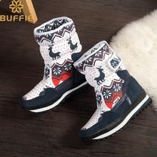 Рождественская обувь для девочек, теплые зимние ботинки, новый дизайн, стелька из натуральной шерсти с оленем, милые детские ботинки, белый, красный, темно-синий цвет, бесплатная доставка