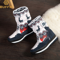 Christmas shoes Girls warm winter boot new design deer natural wool insole kid children nice look white red navy boot free ship