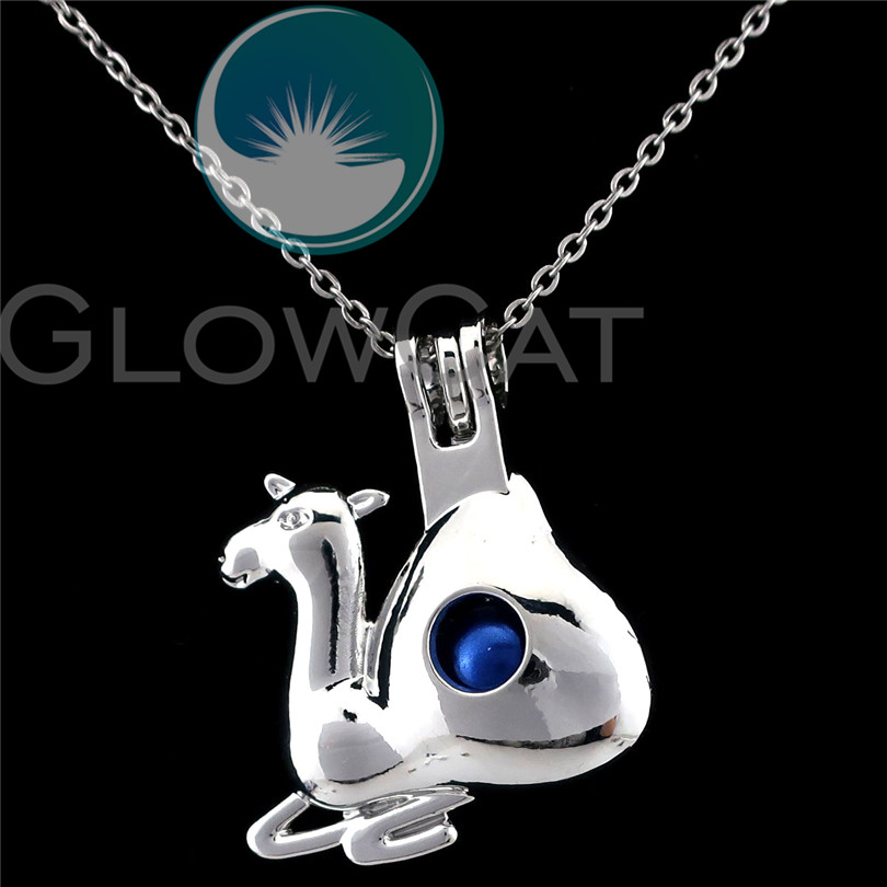 Locket Necklaces Silver Pendant Akoya Oyster Charms K51 Angel Rock Bead Cage