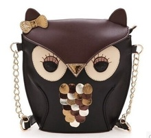 new fashion women leather handbag cartoon bag owl fox shoulder bags messenger