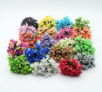 12 Uds flores artificiales de estambre baratas decoración de guirnalda de Navidad de plástico accesorios para el hogar boda diy regalos de Año Nuevo