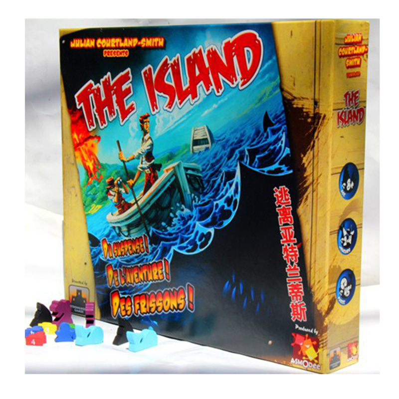 THE ISLAND Survive Escape From Atlantis Board Game 2-4 Players Easy To Play Send English Instruction