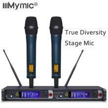 Профессиональная Беспроводная микрофонная система True Diversity 2050 UHF/PLL с двойным портативным передатчиком микрофон идеально подходит для сцены