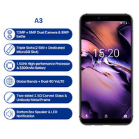 UMIDIGI A3 2GB+16GB Smartphone Quad core Android 8.1 12MP+5MP Face Unlock Global Band 5.5incell HD+display Dual 4G Mobile Phone