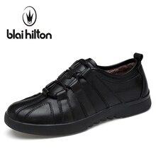 Blaibilton Men Casual Shoes Winter Warm Velvet Luxury Genuine Leather Male Footwear Fashion Designer Mens Large Sizes SD6603