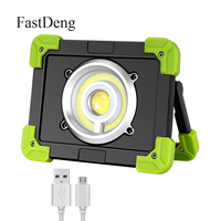 20W COB LED Floodlight Outdoor Working Light USB Rechargeable Portable Camping Lamp Led Spotlight Searchlight 18650 Battery