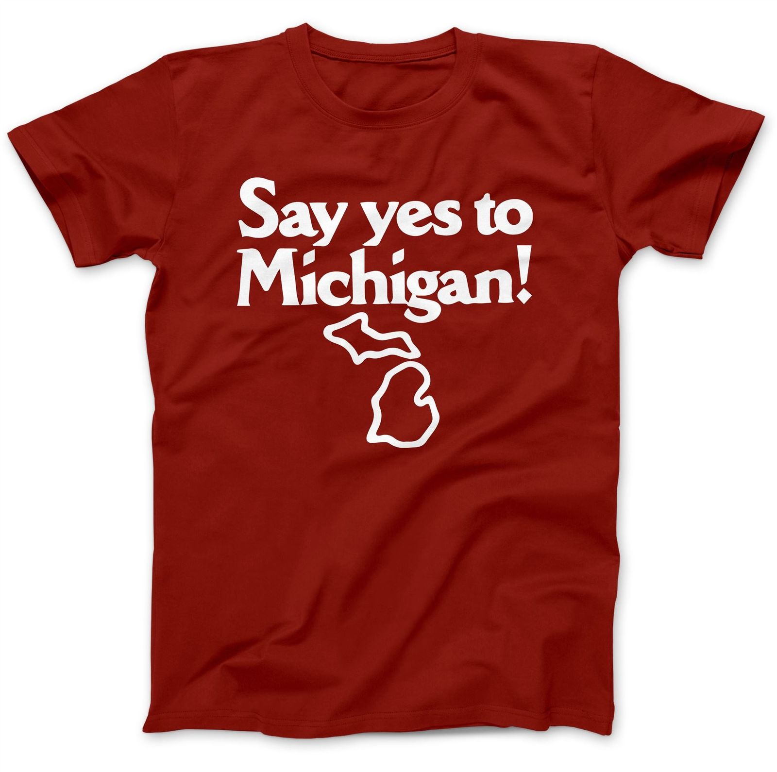 Say Yes To Michigan As Worn By Jack White T-Shirt 100% Premium Cotton