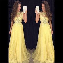 db8bbcce52 Buy yellow evening dress and get free shipping on AliExpress.com