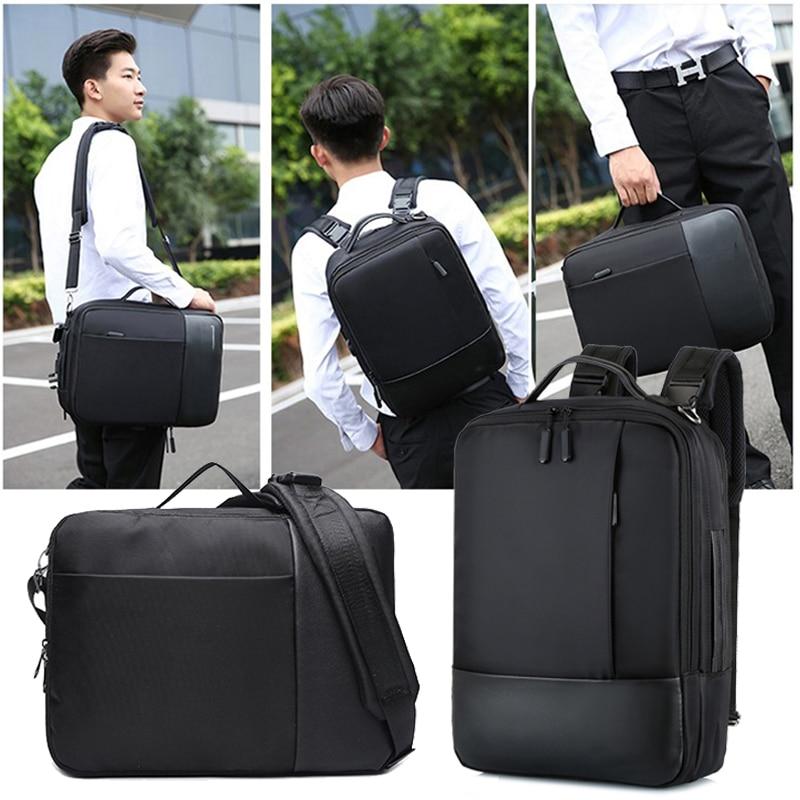 Business Anti Theft Backpack Men Smart Laptop Bagpack USB Charger Male Shoulder Bag 15.6 Inch Notebook Pack Pack Men's Black Bag