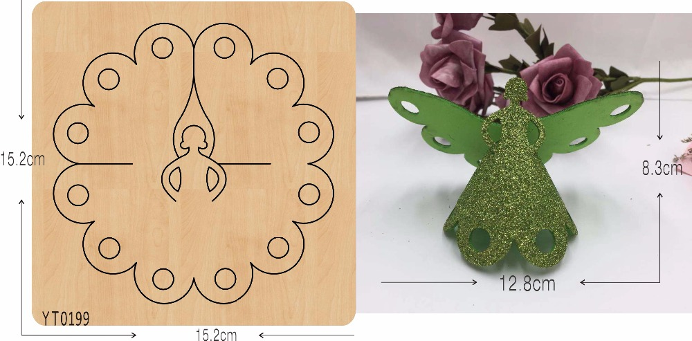 Fairy Maiden New Wooden Mould Cutting Dies For Scrapbooking Thickness/15.8mm/YT0199
