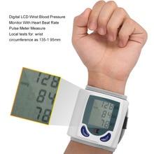 Здоровье и гигиена Автоматическая цифровая ЖК-дисплей наручные Приборы для измерения артериального давления Мониторы для измерения Heart Beat и пульс Dia sys