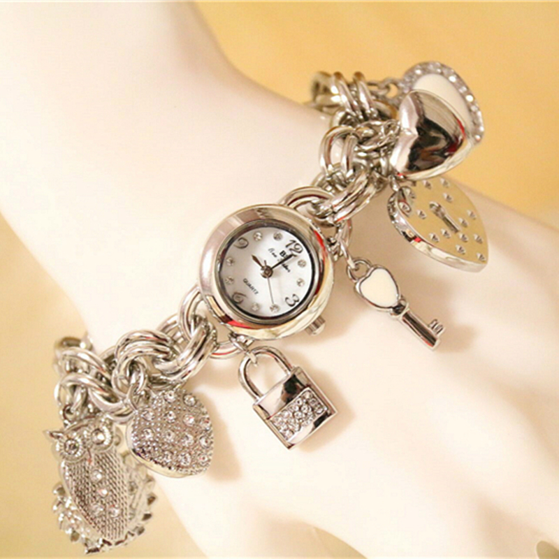 2017 Latest New Fashion Women\'s Bangle Bracelet Watches Silver ...