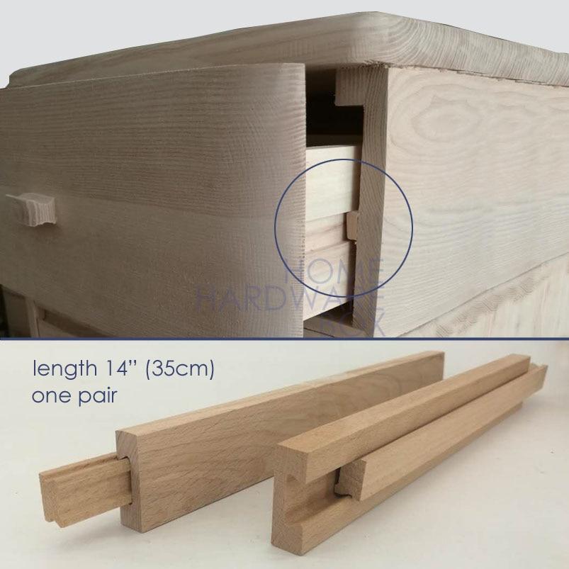 "35cm 14"" wooden drawer slides cabinet DIY one pair 2 pcs ..."