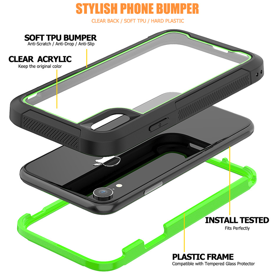 Sturdy Shock Drop Proof Clear Phone Case For iPhone 11 Pro Max 7 8 6S 6 Plus XS Max XR X Shock Absorption Bumper Hybrid Cover