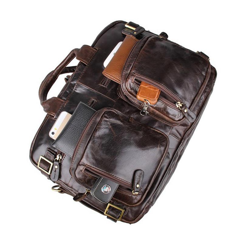 Männer Aus Echtem Leder Schulter Tasche Top Qualität Herrenmode Mult Funktion Reise Schulter Tasche Handtasche Western College Laptop Taschen-in Crossbody-Taschen aus Gepäck & Taschen bei  Gruppe 3