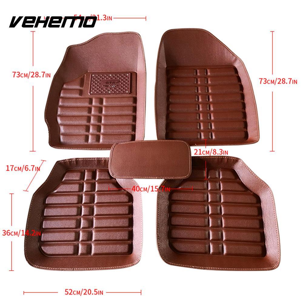 VEHEMO 5 шт. автомобильные коврики, коврик для ног, автомобильные коврики для автомобиля, коврики с левым приводом, таппетини, авто Универсальный авто интерьер