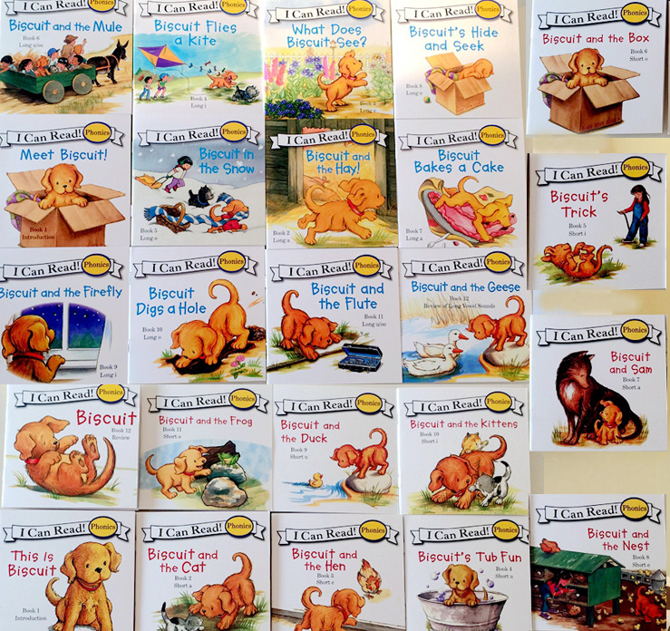 24 Books Biscuit Series Phonics English Picture Books