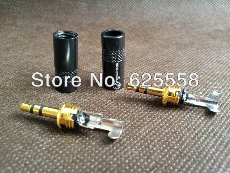 1 пара Золотой neutrik 3,5 мм Мужской стерео мини разъем для кабель для наушников сделай сам