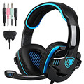 Original SADES SA-708GT Gaming Headset Stereo Headphones Earphones with Microphone for Xbox 360 PS4 PC Games Computer Gamer