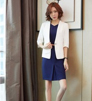 AidenRoy Formal White Blazer Women Business Suits Dress And Jackets Sets Work Wear Office Uniform Designs