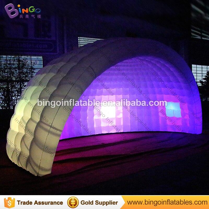 6 м * 3 м * 4 м Портативный надувной шатер Палатки надувной купол шатра партии надувные иглу палатка с светодиодные фонари игрушки