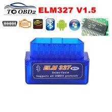 100% Firmware V1.5 PIC18F25K80 ELM327 Bluetooth V1.5 OBD2 Auto Diagnostic Tool ELM 327 V1.5 Werk Op Android/Symbian BESTE kwaliteit