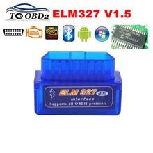 Автомобильный диагностический прибор ELM 100% V1.5, чип PIC18F25K80 ELM327 Bluetooth V1.5 OBD2, работает на Android/Symbian, лучшее качество, 327