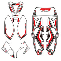 For BMW S1000RR 2012 2014 2013 Motorcycle Front Rear Fairing Engine Vehicle sticker 3D Edge Gel Protection Tank Paint pad