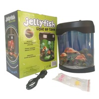 Desktop Decoration electronic jellyfish aquarium Home Decor Light Birtherday Gift Changing Jellyfish Tank Lamp Aquarium