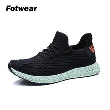 Fotwear Men sneakers Lace-Up breathable shoes Lightweight Stree fashion flexible rubber outsole Spring