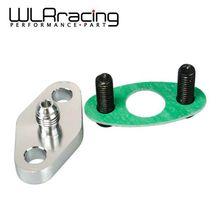 WLR RACING-турбонасос с масляным охлаждением подачи Впускной фланец прокладка адаптер Комплект 4AN 4 фитинг T3 T3/T4 T04 WLR-OFG31