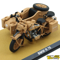 1:24 Scale Motorcycle with Sidecar German R75 Heavy Motorcycle Model for Collection Gift