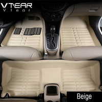 For Hyundai Creta Ix25 Car Floor Mats Interior Leather Pad Waterproof Durable Rugs Car Styling Products
