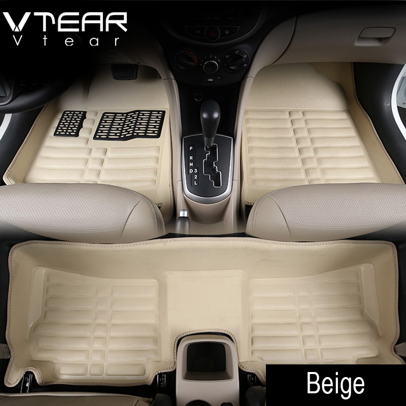 Vtear For Creta Hyundai ix25 Car Floor Mats interior leather pad waterproof durable rugs car-styling products creta accessory zhaoyanhua car floor mats for bmw x5 e70 f15 pvc leather anti slip waterproof car styling full cover rugs zhaoyanhua carpet line