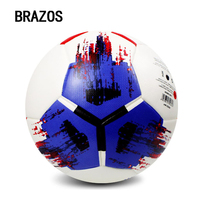 Outdoor Champions League Leather Football Size 5 Hand Sewing Regular Training Game Ball Competition Soccer Balls Indoor Futebol