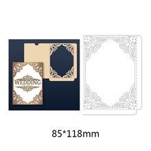 New Arrival  Greeting Flower Border Cutting Dies Hollow Metal Steel Handcraft for Creative Scrapbook Embossing Paper Card