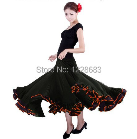 girls women long lycra skirts spanish dance costume robe. Black Bedroom Furniture Sets. Home Design Ideas