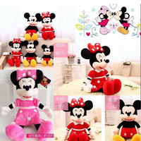 1 Pcs 40cm Hot Sale Lovely Mickey Mouse And Minnie Mouse Stuffed Soft Plush Toys High