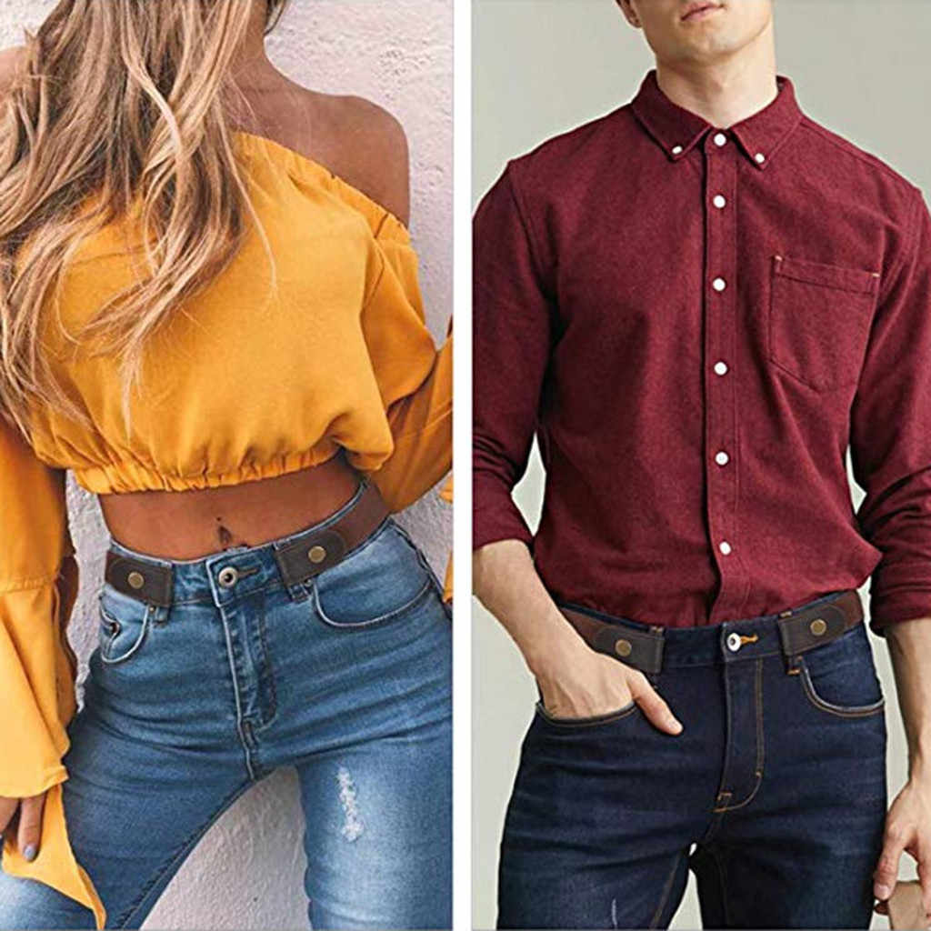 2019 Slim stretch invisible belt jeans elastic band no raised simple wild men and women lazy belt 7.19