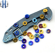 TC4 Titanium Alloy Brass DIY Knife Push Button EM ST SNG SMF - 1 piece price
