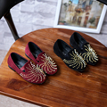 Лучший Заклепки Shoes Детей Девочек Эспадрильи Лук Плоским Loafer Slip-on Повседневная Весна Кроссовки 2017 Коллекция Моды Детская Обувь