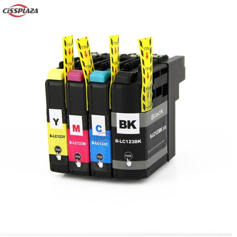 CISSPLAZA 4 цвета LC121 LC123 LC125 чернильный картридж совместимый для brother MFC-J870DW MFC-J650DW MFC-J470DW