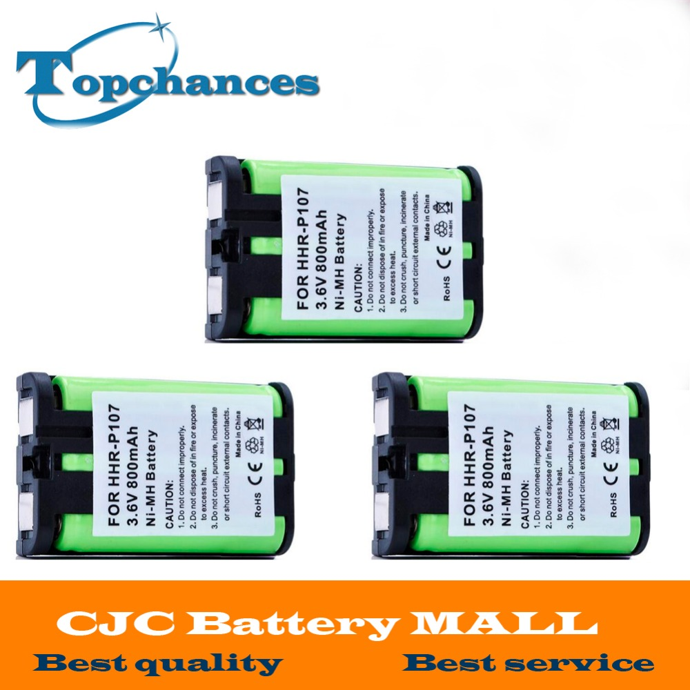 Batteries Obedient 3pcs High Quality 3.6v 800mah Cordless Phone Battery For Panasonic Hhr-p107 Hhrp107 Hhrp107a/1b